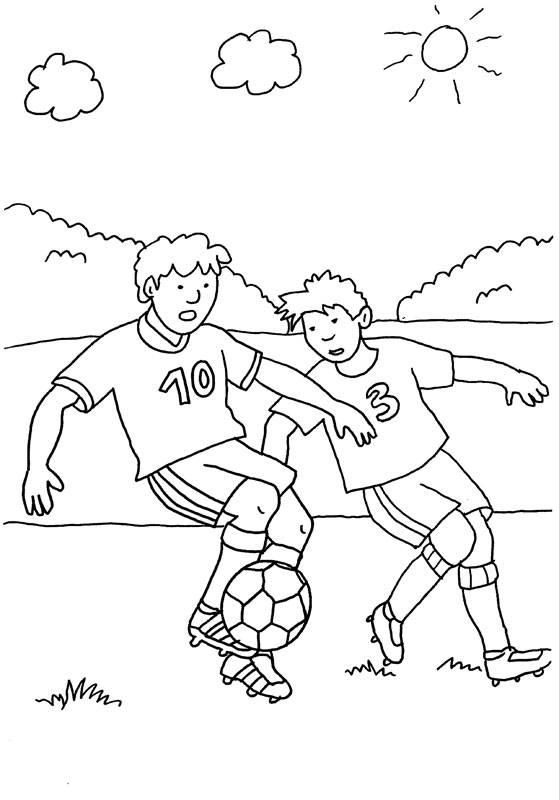Ausmalbild Sport Fußballturnier Im Freien Kostenlos Ausdrucken
