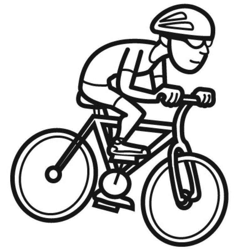 kostenlose malvorlage sport radfahrer zum ausmalen