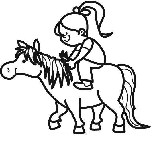 Ausmalbild Tiere Pony Kostenlos Ausdrucken