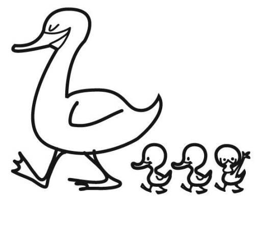 Kostenlose malvorlage tiere entenfamilie zum ausmalen - Canard dessin facile ...