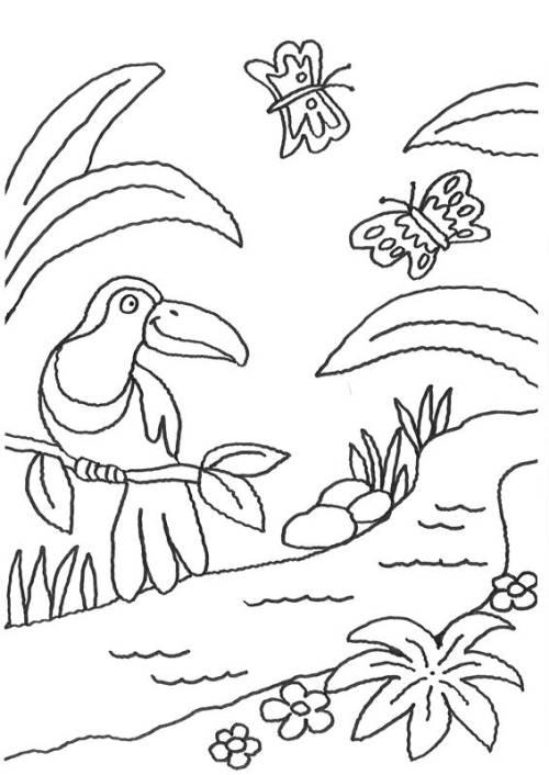 familie vogel ausmalbilder
