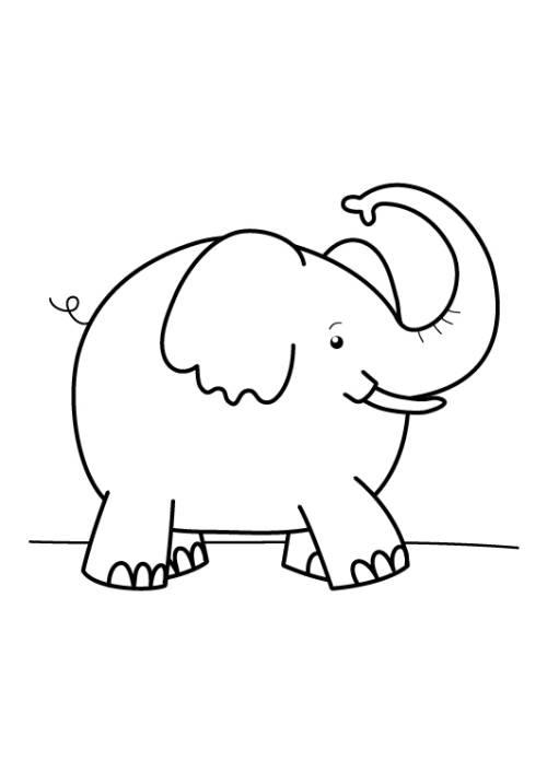 Kostenlose Malvorlage Tiere Elefant Zum Ausmalen Zum Ausmalen
