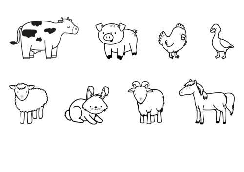 Kostenlose Malvorlage Tiere: Bauernhoftiere zum Ausmalen ...