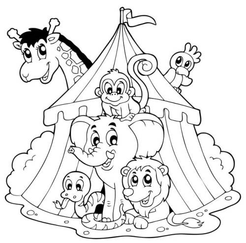 coloring pages circus train - photo#25