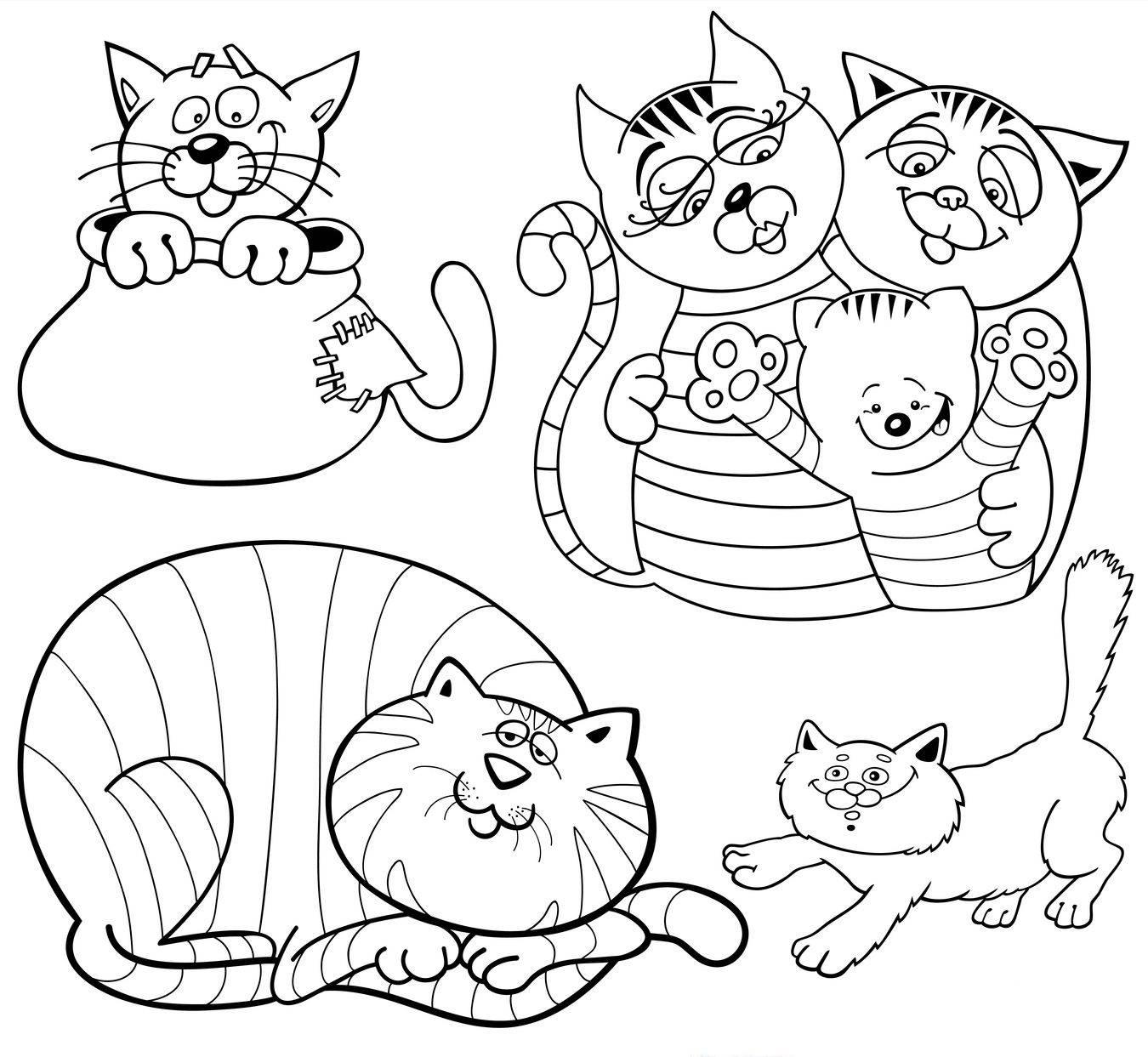 Charmant Ausmalbilder Katze Und K Tzchen Zeitgen Ssisch