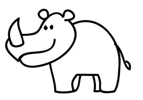 Kostenlose Malvorlage Tiere Nashorn Zum Ausmalen Zum Ausmalen