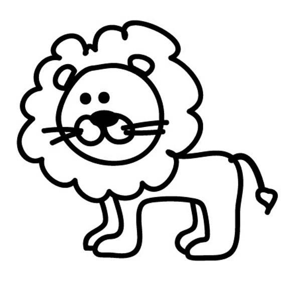 Kostenlose Malvorlage Tiere: Löwe zum Ausmalen zum Ausmalen