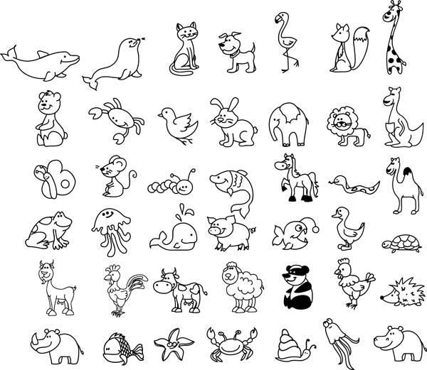 Ausmalbild tiere wimmelbild tiere zum ausmalen kostenlos ausdrucken - Menschen malen lernen kindergarten ...