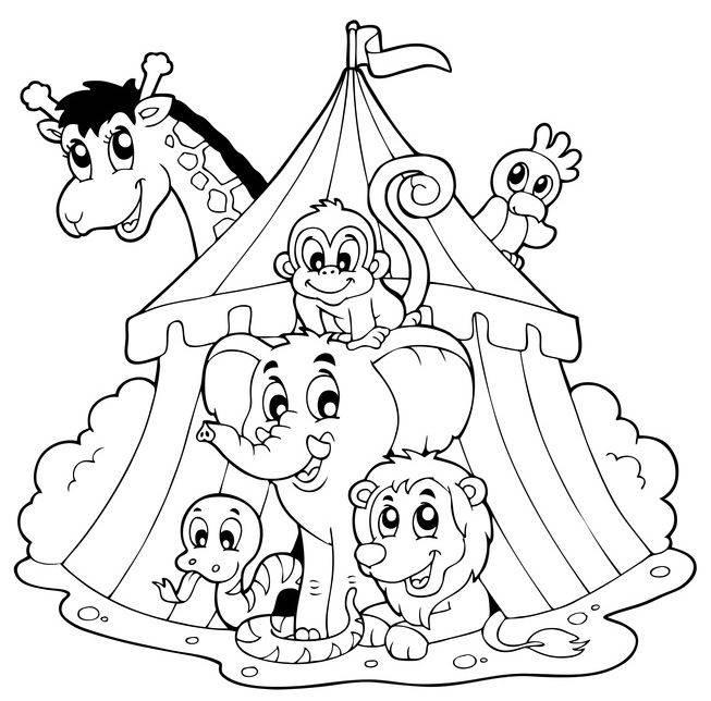 Schön Zirkus Tier Malvorlagen Galerie - Dokumentationsvorlage ...