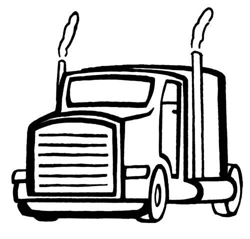 Kostenlose Malvorlage Transportmittel: LKW zum Ausmalen
