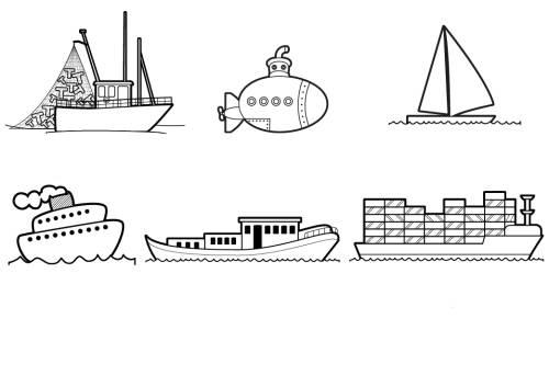 Kostenlose Malvorlage Transportmittel Schiffe Und Boote Zum