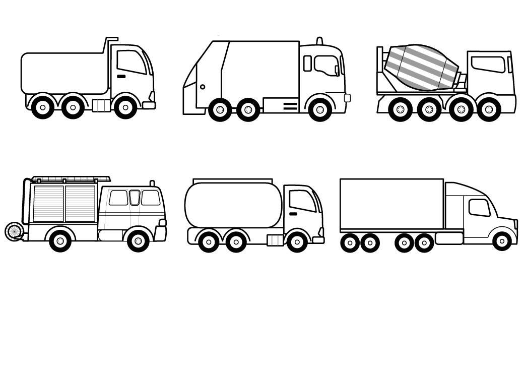 ausmalbild transportmittel lkws zum ausmalen kostenlos