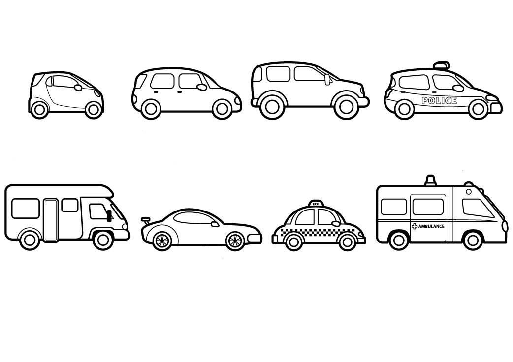 Ausmalbild Transportmittel Fahrzeuge Zum Ausmalen Kostenlos Ausdrucken