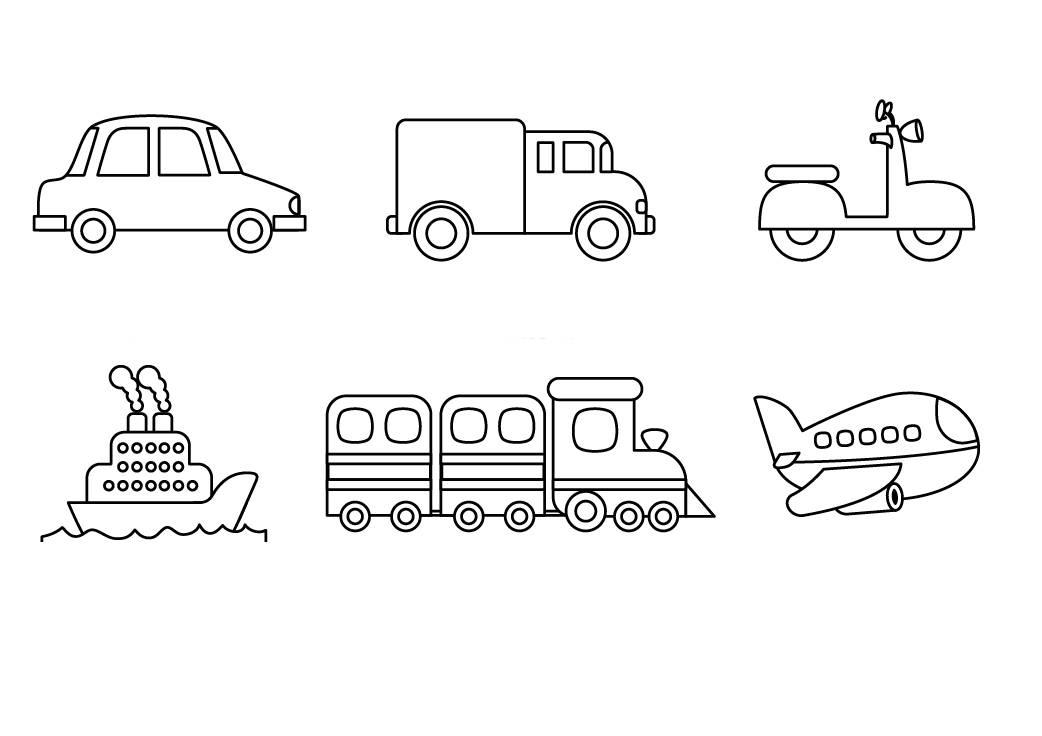 Ausmalbild Transportmittel Verschiedenen Fahrzeuge Zum Ausmalen