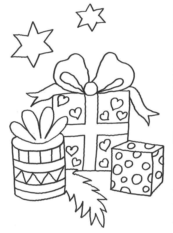 kostenlose malvorlage weihnachten: geschenke zum ausmalen
