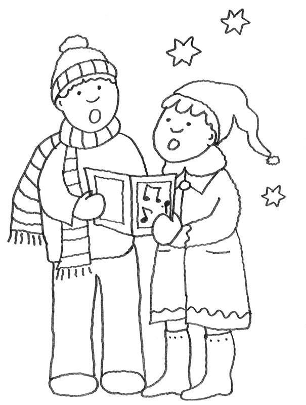 kostenlose malvorlage weihnachten weihnachtssinger zum