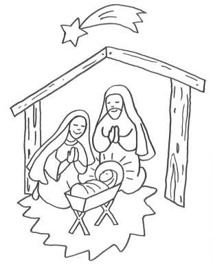 kostenlose malvorlage weihnachten: kostenlose malvorlage: jesus geburt im stall zum ausmalen