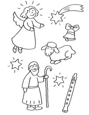 kostenlose malvorlage weihnachten: kostenlose malvorlage: weihnachtsfiguren zum ausmalen
