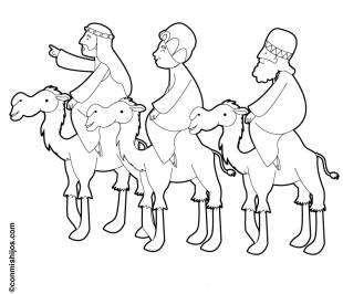 kostenlose malvorlage weihnachten: kostenlose malvorlage: die heiligen drei könige zum ausmalen