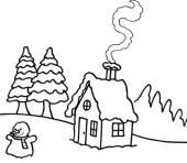 kostenlose ausmalbilder und malvorlagen: winter zum