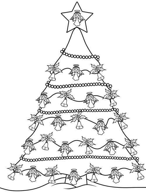 kostenlose malvorlage weihnachtsb ume weihnachtsbaum zum. Black Bedroom Furniture Sets. Home Design Ideas