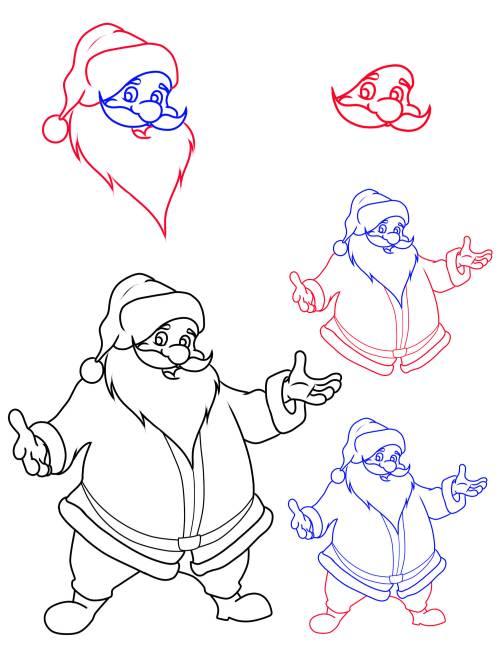 Kostenlose Malvorlage Weihnachtsmänner Wie Malt Man Einen