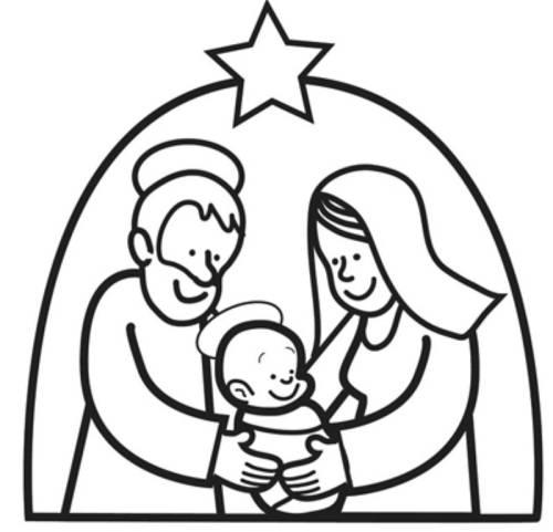 Kostenlose Malvorlage Weihnachten Maria Und Josef Mit Dem Jesuskind