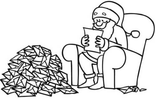 kostenlose malvorlage weihnachten weihnachtsmann liest
