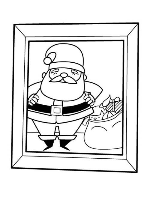kostenlose malvorlage weihnachten foto vom weihnachtsmann. Black Bedroom Furniture Sets. Home Design Ideas