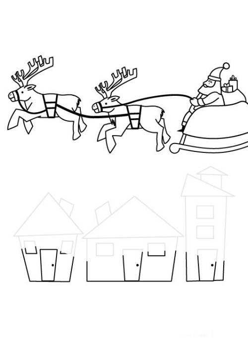 kostenlose malvorlage weihnachten: weihnachtsmann im