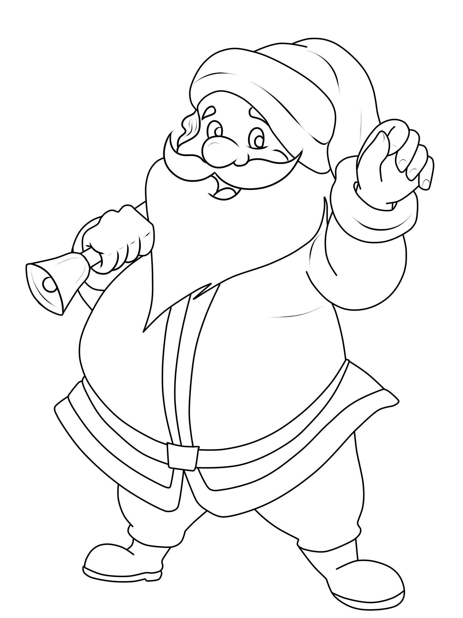 ausmalbild weihnachtsmänner weihnachtsmann zum ausmalen