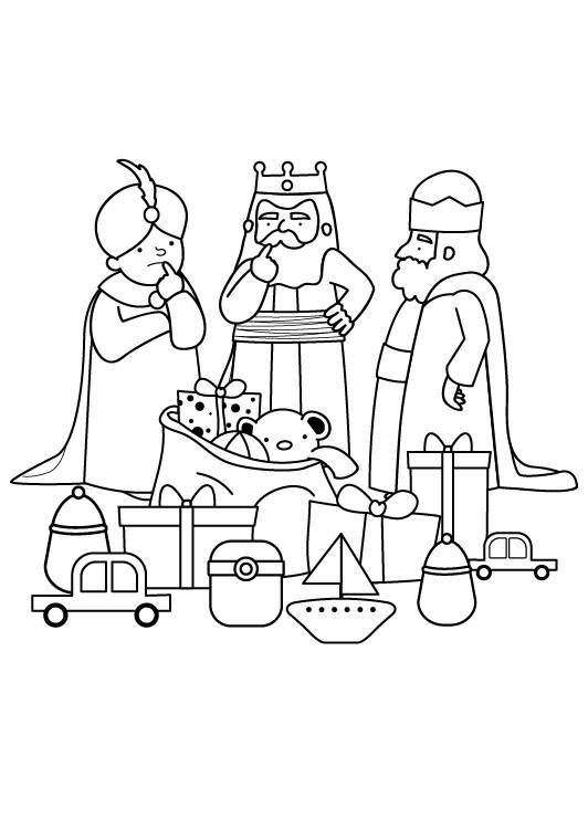 Ausmalbild Weihnachten: Heilige Drei Könige zum Ausmalen kostenlos ...