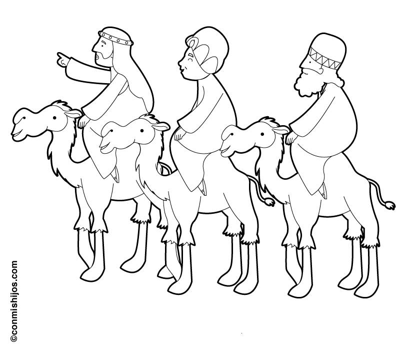 the three wise men coloring pages