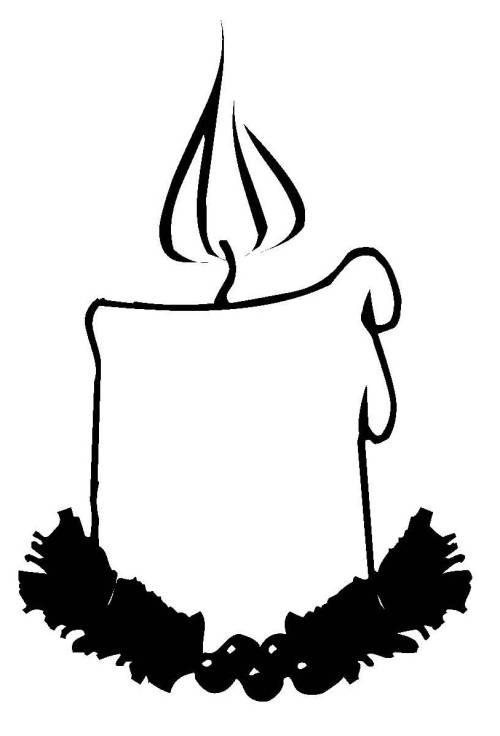 Kostenlose Malvorlage Weihnachten Dicke Kerze Zum Ausmalen