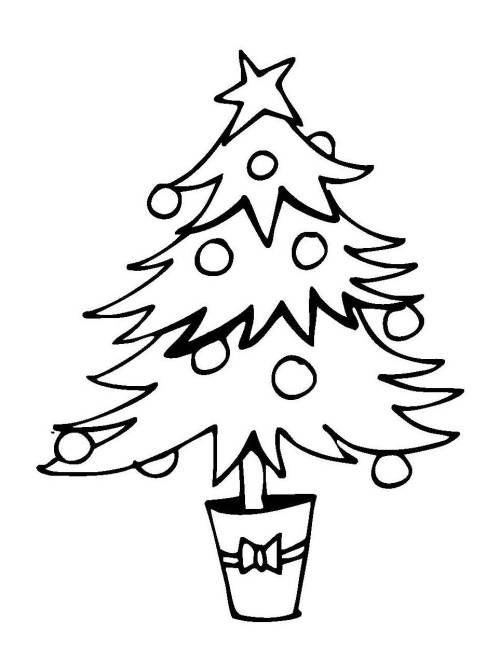 kostenlose malvorlage weihnachten weihnachtsbaum im topf. Black Bedroom Furniture Sets. Home Design Ideas