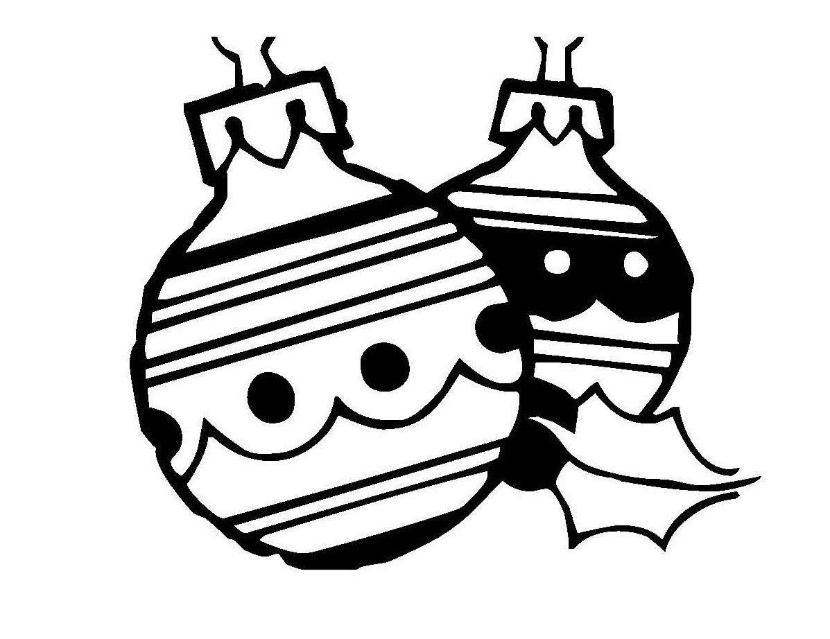 Ausmalbild Weihnachten Zwei Christbaumkugeln Kostenlos Ausdrucken