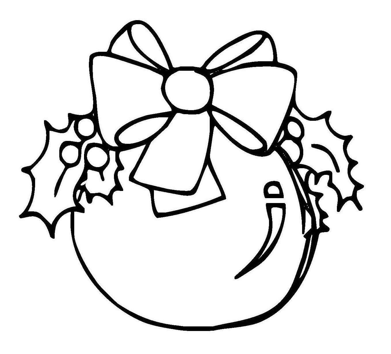 Kostenlose Malvorlage Weihnachten Große Christbaumkugel Zum Ausmalen