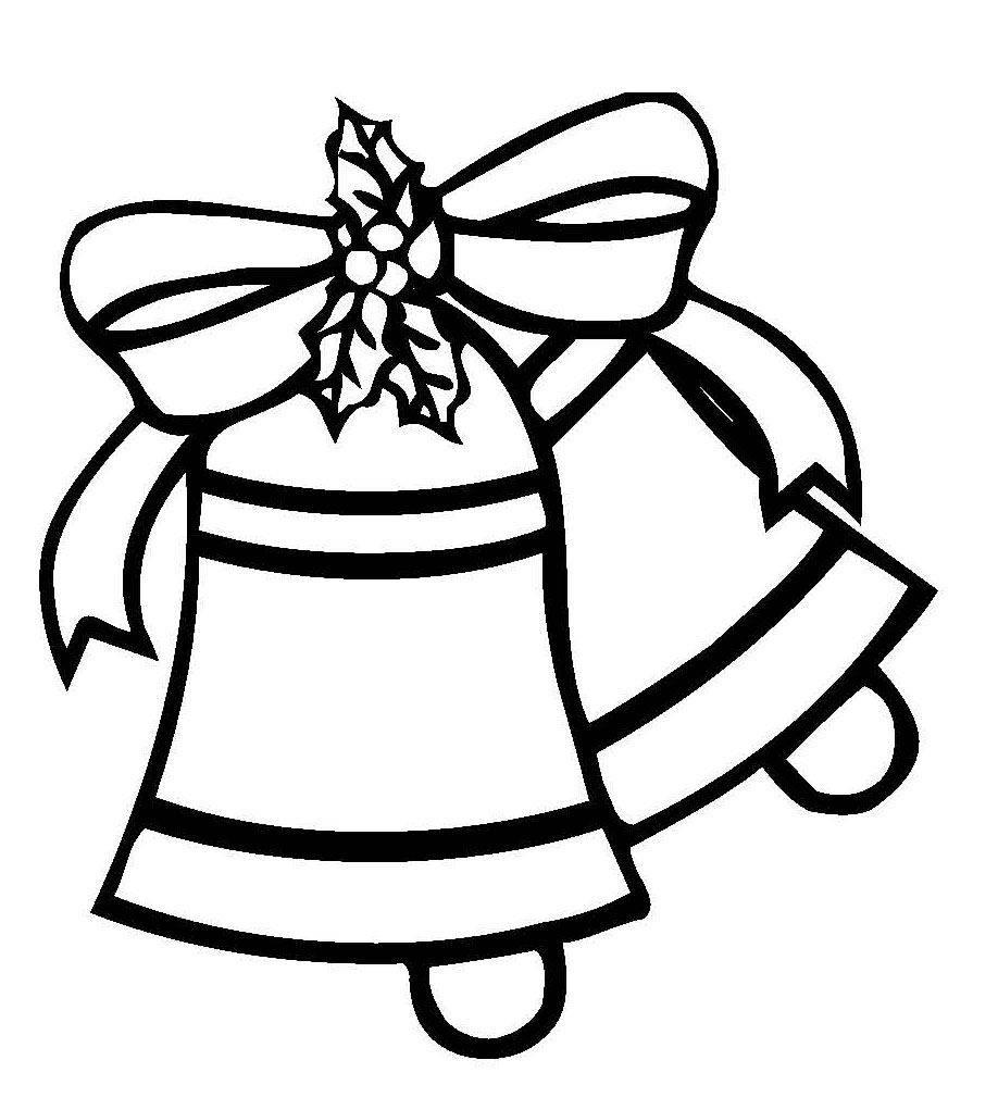 Ausmalbild Weihnachten Weihnachtsglocken Mit Schleife Kostenlos