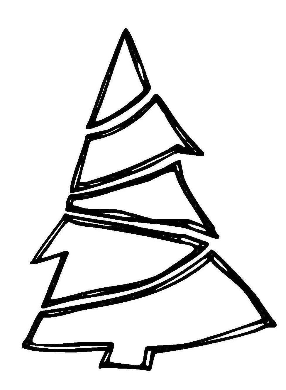 kostenlose malvorlage weihnachten weihnachtsbaum mit girlande zum ausmalen
