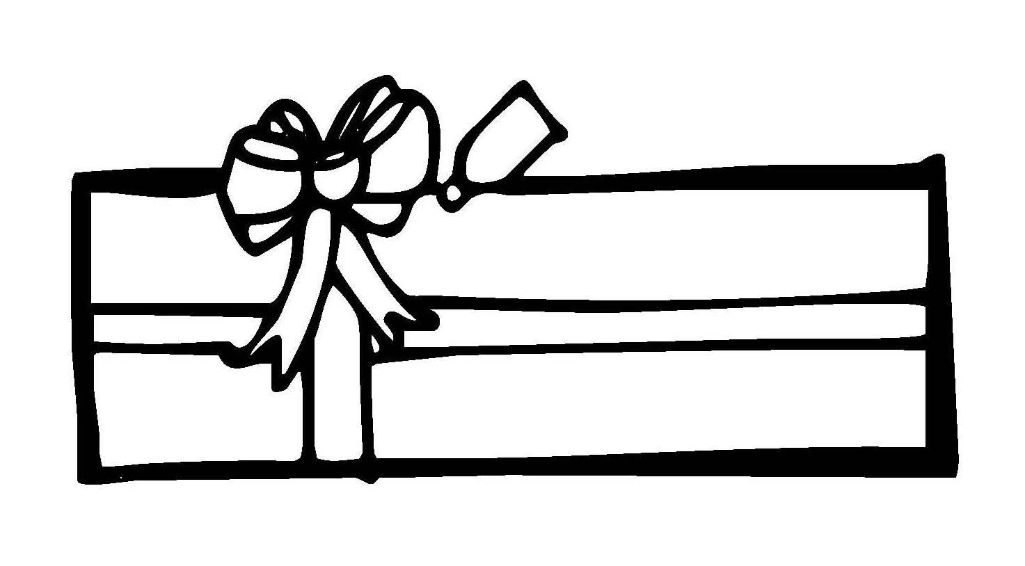 Kostenlose Malvorlage Weihnachten: Langes Weihnachtsgeschenk zum ...