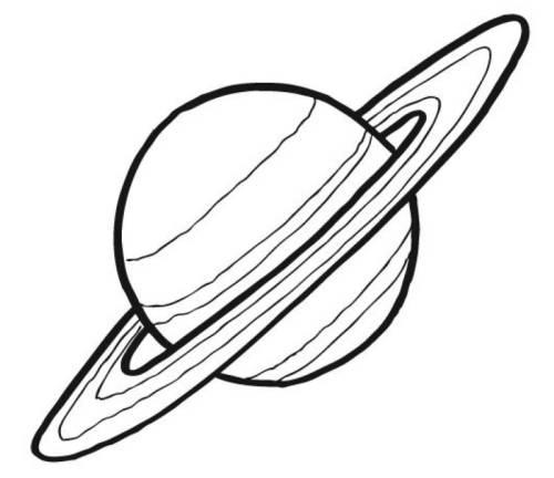 Kostenlose Malvorlage Außerirdische und das Weltall: Planet Saturn ...