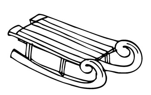 kostenlose malvorlage winter schlitten 1 zum ausmalen. Black Bedroom Furniture Sets. Home Design Ideas