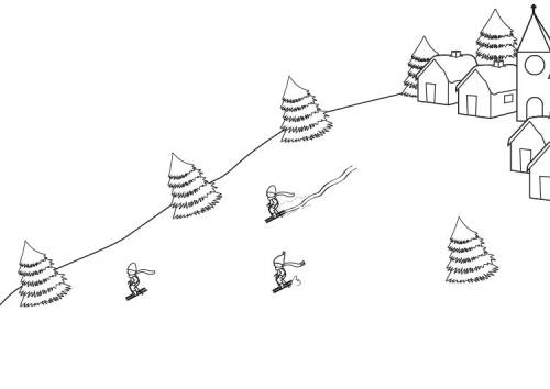Kostenlose Malvorlage Winter Skifahrer Zum Ausmalen Zum Ausmalen
