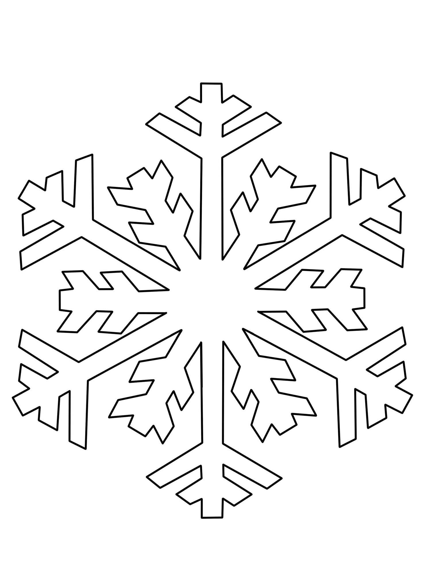 Ausmalbild Schneeflocken und Sterne: Schneeflocke ausmalen kostenlos ...