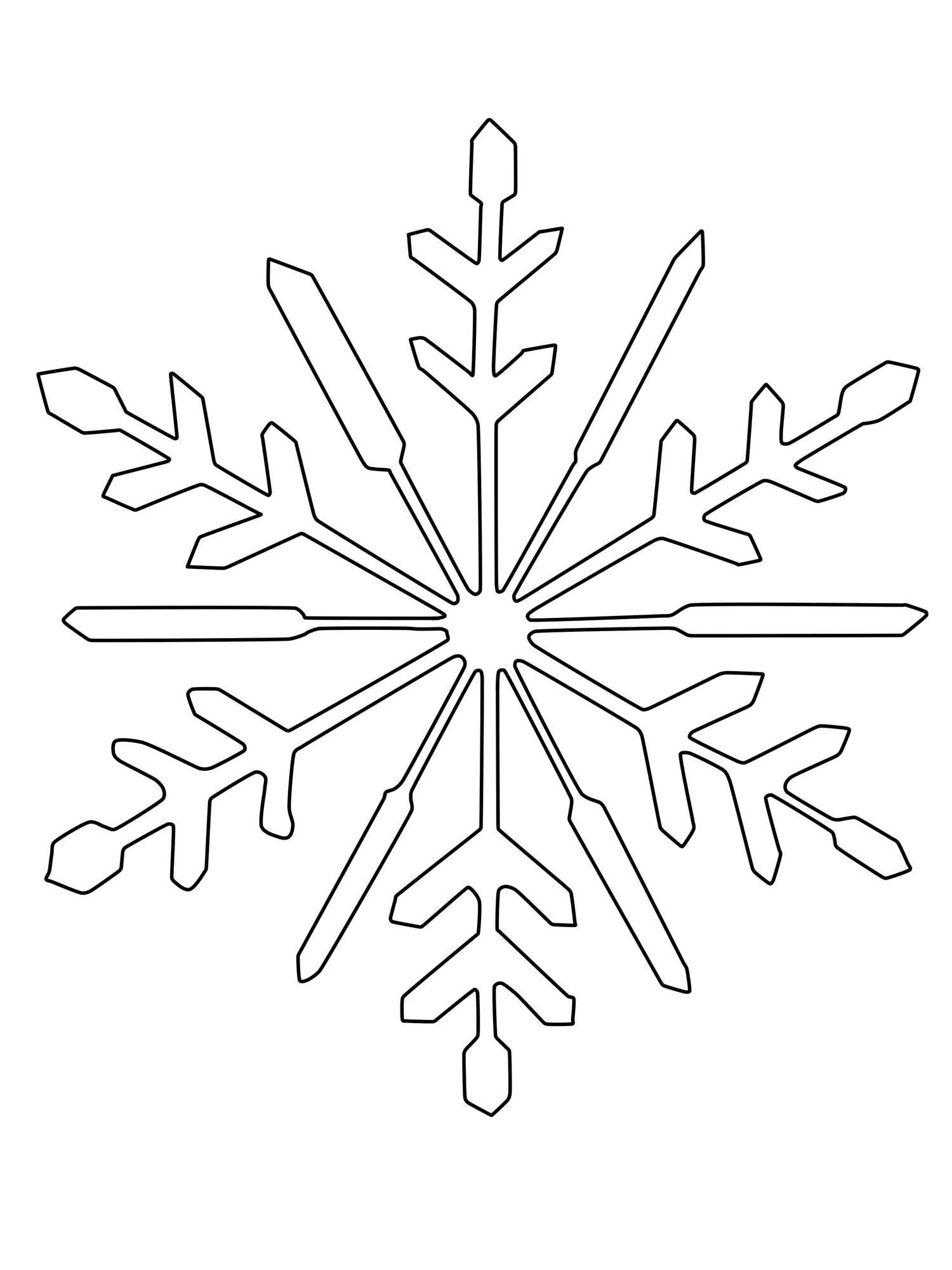 ausmalbild schneeflocken und sterne schneeflocke zum. Black Bedroom Furniture Sets. Home Design Ideas