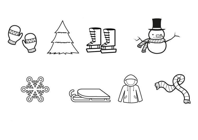 kostenlose malvorlage winter wintermotive zum ausmalen zum ausmalen. Black Bedroom Furniture Sets. Home Design Ideas