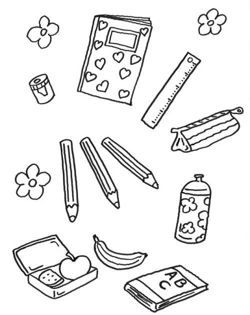 kostenlose malvorlage zweite klasse alles was ein sch ler braucht zum ausmalen. Black Bedroom Furniture Sets. Home Design Ideas