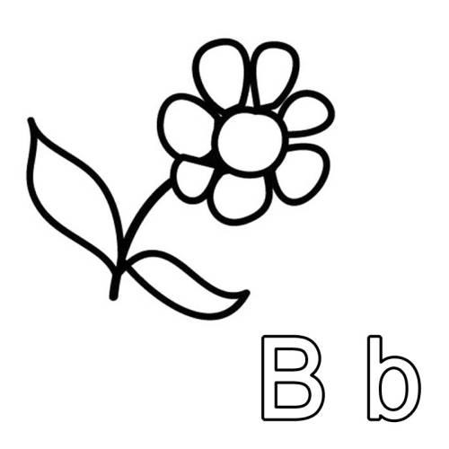 kostenlose malvorlage buchstaben lernen ausmalbild b zum