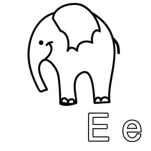 Kostenlose Malvorlage Buchstaben Lernen Ausmalbild E Zum Ausmalen