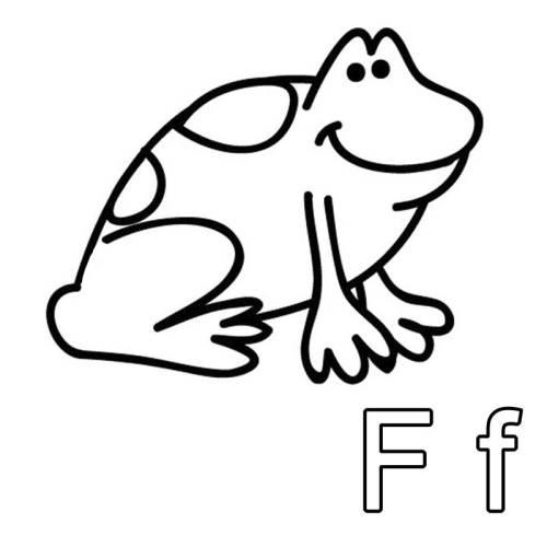 Kostenlose Malvorlage Buchstaben lernen: Ausmalbild F zum Ausmalen